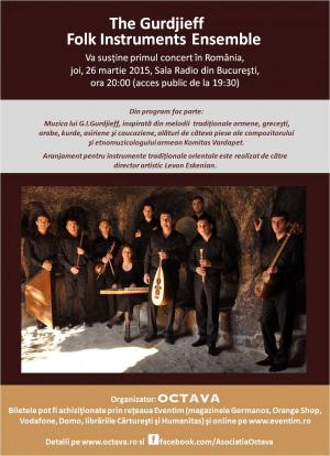 Concert The Gurdjieff Folk Instruments Ensamble, 2015