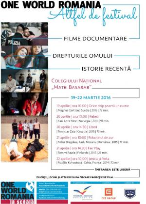 Festivalul de Film Documentar One World România, 2016